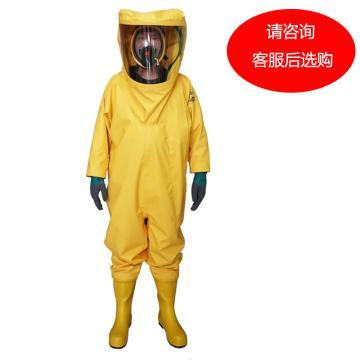 海固3NP三级重型全封闭防化服,含手套及胶靴,M
