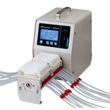 蠕动泵,兰格,流量型,BT100-1L(泵头YZII25),显示流量与转速,转速范围:1-100rpm,流量范围:1.7-500ml/min