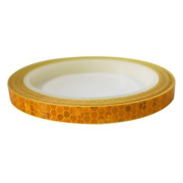 安赛瑞 安全帽警示反光贴-黄色,晶格反光材料,10mm×8m,13300,2卷/包