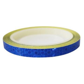 安赛瑞 安全帽警示反光贴-蓝色,晶格反光材料,10mm×8m,13301,2卷/包