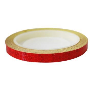 安赛瑞 安全帽警示反光贴-红色,晶格反光材料,10mm×8m,13302,2卷/包