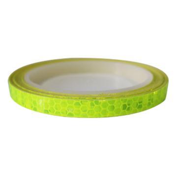 安赛瑞 安全帽警示反光贴-荧光绿,晶格反光材料,10mm×8m,13304,2卷/包
