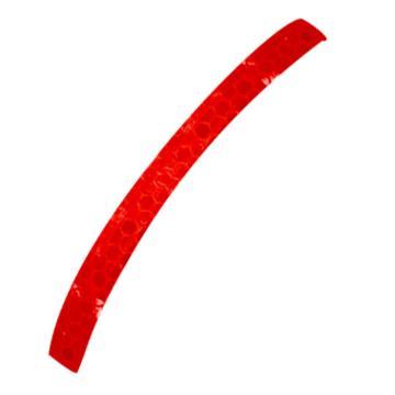 安赛瑞 安全帽警示反光贴-红色 晶格反光材料,20mm×260mm,13307,10片/包