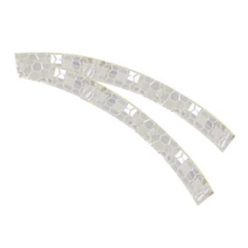 安赛瑞 安全帽警示反光贴-白色 晶格反光材料,20mm×260mm,13310,10片/包