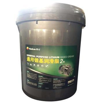 昆侖 潤滑脂,通用 鋰基脂 2號,15kg/桶