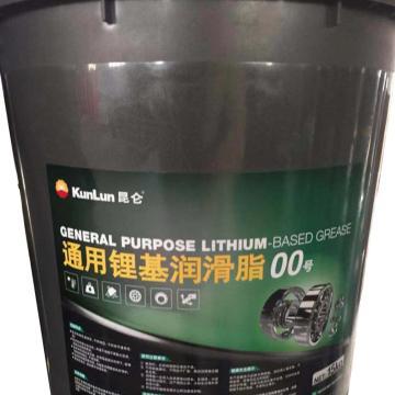 昆侖 潤滑脂,通用 鋰基脂 00號,15kg/桶