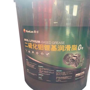 昆侖 潤滑脂,二硫化鉬 鋰基 潤滑脂0號,15kg/桶