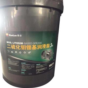 昆仑 润滑脂,二硫化钼 锂基 润滑脂,3号,15kg/桶