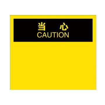 安赛瑞 OSHA当心安全标识贴(空白书写款),不干胶材质,250×315mm,10528