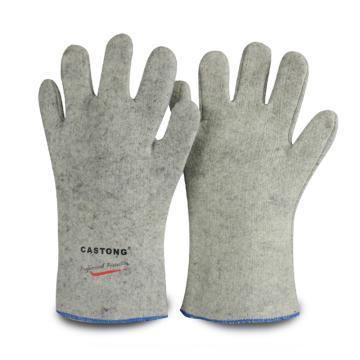 卡司顿 隔热手套,GKKK35-33,200°耐高温手套 5指 电焊版