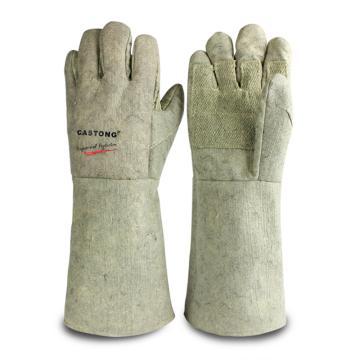 卡司顿 隔热手套,ABG-5T-45,500°5指掌部加强耐高温手套
