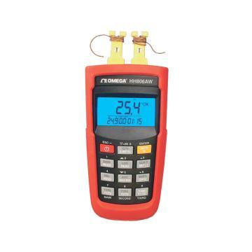 无线温度测量仪 热电偶双输入表,带USB和直流电源插孔。 存储256个即时采样