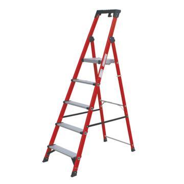 金锚 玻璃钢绝缘工作梯,踏板数:5 额定载荷(KG):150 工作高度(米):1.24,FO11-105