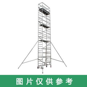 金锚 铝合金脚手架,标准等级(KG/平米):200 总承重(KG):500 工作高度(米):3.8,AOB12-4