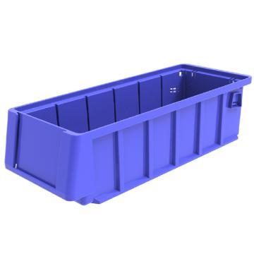西域推荐 分隔式物料盒,外尺寸规格D*W*H(mm):300×117×90,全新料,蓝色,48个/箱