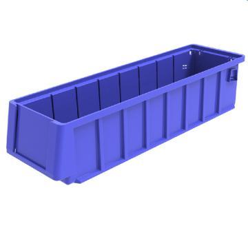 西域推荐 分隔式物料盒,外尺寸规格D*W*H(mm):400×117×90,全新料,蓝色,24个/箱