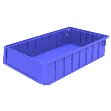 西域推荐 分隔式物料盒,外尺寸规格D*W*H(mm):400×235×90,全新料,蓝色,12个/箱