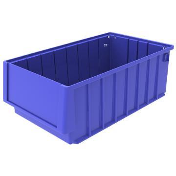 西域推荐 分隔式物料盒,外尺寸规格D*W*H(mm):400×235×140,全新料,蓝色,8个/箱