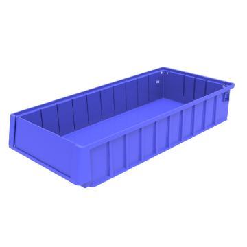 西域推荐 分隔式物料盒,外尺寸规格D*W*H(mm):500×235×90,全新料,蓝色,12个/箱