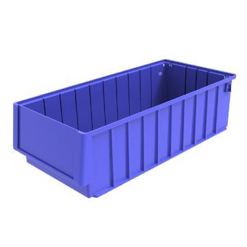西域推荐 分隔式物料盒,外尺寸规格D*W*H(mm):500×235×140,全新料,蓝色,8个/箱