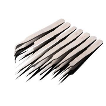 佐科ZOCO 不锈钢高精密镊子,扁圆型,ST-13,120mm,镊子 夹持工具 金属镊子 高精度夹子