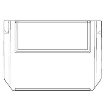 Raxwell 109系列橫向分隔板,TK-V109,外尺寸規格D*W*H(mm):103×74×10,半透明,10個/包