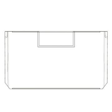 Raxwell 214系列橫向分隔板,TK-V214,外尺寸規格D*W*H(mm):220×124×10,半透明,10個/包