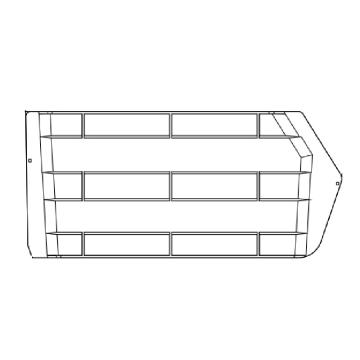 Raxwell 縱向分隔板,TK-H370,搭配TK008+TK010,半透明