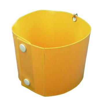 安赛瑞 卡扣式袖标-黄色,PVC材质,410×100mm,插片30×8.5mm,20369,5片/包