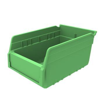 西域推荐 精益物料盒,外尺寸规格D*W*H(mm):300×200×150,全新料,绿色,30个/箱