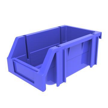 西域推荐 组立背挂斜口盒,外尺寸规格D*W*H(mm):160×100×74,全新料,蓝色,24个/箱