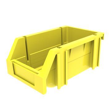 西域推荐 组立背挂斜口盒,外尺寸规格D*W*H(mm):160×100×74,全新料,黄色,24个/箱