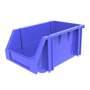 西域推荐 组立背挂斜口盒,外尺寸规格D*W*H(mm):240×150×124,全新料,蓝色,36个/箱