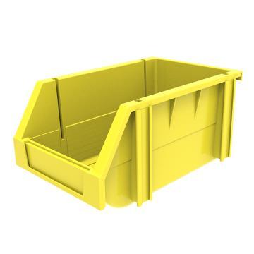 西域推荐 组立背挂斜口盒,外尺寸规格D*W*H(mm):240×150×124,全新料,黄色,36个/箱