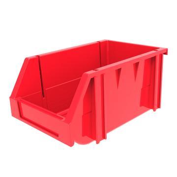 西域推荐 组立背挂斜口盒,外尺寸规格D*W*H(mm):240×150×124,全新料,红色,36个/箱