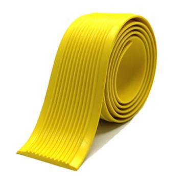 安赛瑞 自粘式PVC楼梯防滑条-黄,PVC材质,覆3M背胶,40mm×30m,厚度3mm,13831