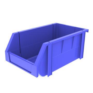 西域推荐 组立背挂斜口盒,外尺寸规格D*W*H(mm):340×200×155,全新料,蓝色,18个/箱