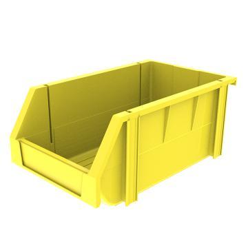 西域推荐 组立背挂斜口盒,外尺寸规格D*W*H(mm):340×200×155,全新料,黄色,18个/箱