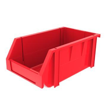 西域推荐 组立背挂斜口盒,外尺寸规格D*W*H(mm):340×200×155,全新料,红色,18个/箱