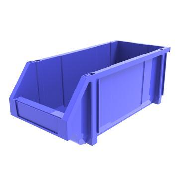 西域推荐 组立背挂斜口盒,外尺寸规格D*W*H(mm):450×200×177,全新料,蓝色,12个/箱