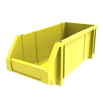西域推荐 组立背挂斜口盒,外尺寸规格D*W*H(mm):450×200×177,全新料,黄色,12个/箱
