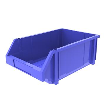 西域推荐 组立背挂斜口盒,外尺寸规格D*W*H(mm):450×300×177,全新料,蓝色,8个/箱