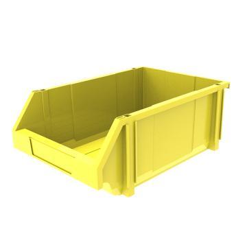 西域推荐 组立背挂斜口盒,外尺寸规格D*W*H(mm):450×300×177,全新料,黄色,8个/箱