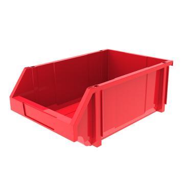 西域推荐 组立背挂斜口盒,外尺寸规格D*W*H(mm):450×300×177,全新料,红色,8个/箱