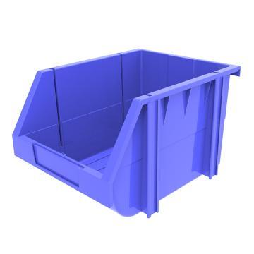西域推荐 组立背挂斜口盒(可纵向分隔),外尺寸规格D*W*H(mm):280×214×175,全新料,蓝色,16个/箱