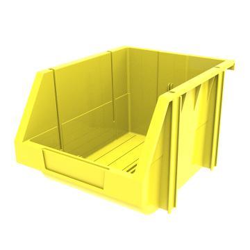 西域推荐 组立背挂斜口盒(可纵向分隔),外尺寸规格D*W*H(mm):280×214×175,全新料,黄色,16个/箱
