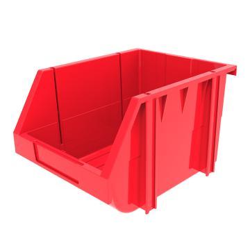 西域推荐 组立背挂斜口盒(可纵向分隔),外尺寸规格D*W*H(mm):280×214×175,全新料,红色,16个/箱