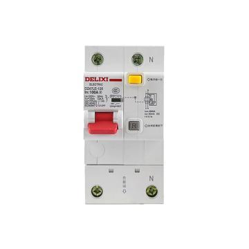 德力西DELIXI 微型漏电保护断路器,DZ47LE-125 1P+N D100A 100mA,DZ47LE1251D100R100
