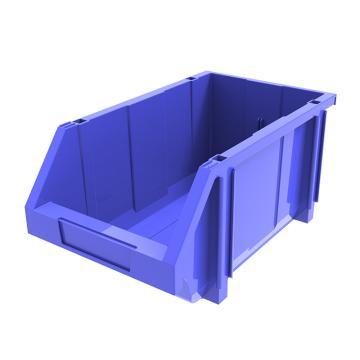 西域推荐 组立背挂斜口盒(可纵向分隔),外尺寸规格D*W*H(mm):370×214×175,全新料,蓝色,8个/箱