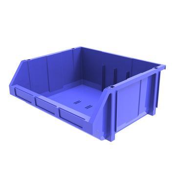 西域推荐 组立背挂斜口盒(可纵向分隔),外尺寸规格D*W*H(mm):370×420×175,全新料,蓝色,8个/箱